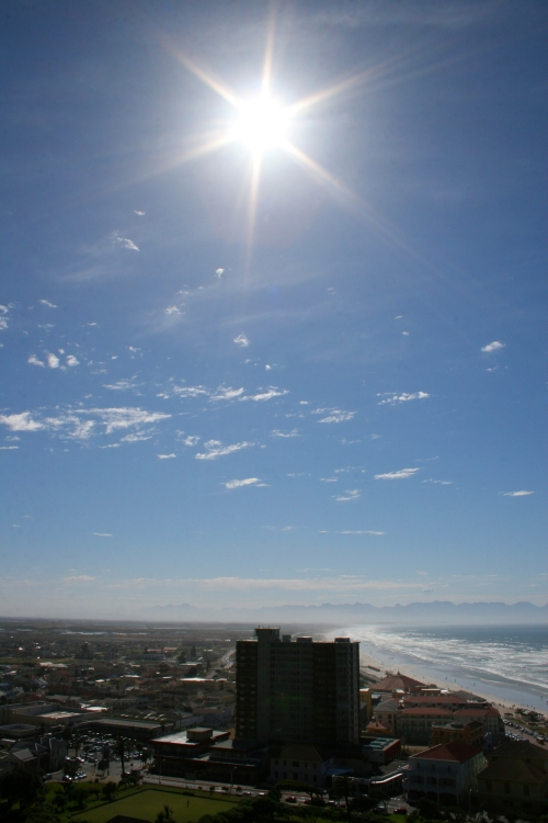 Sun Beats Down over False Bay
