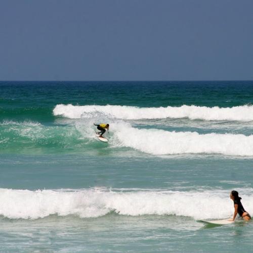surfers spray