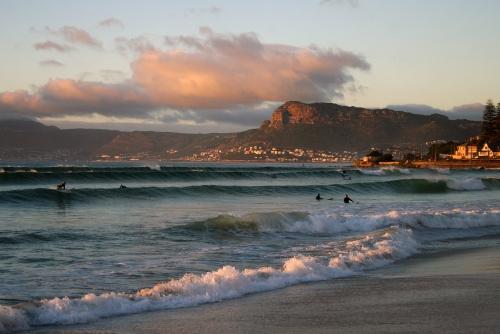 surfers sun rise
