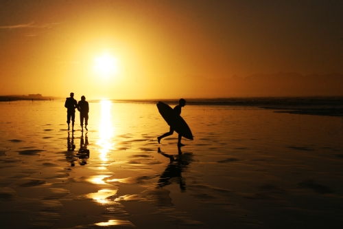 good friends and a surf