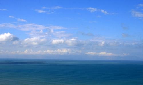 blue skies False Bay