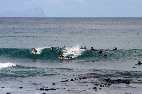 crowded kalk bay