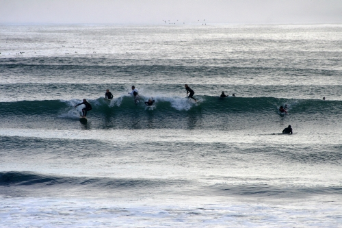 crowded long beach line up