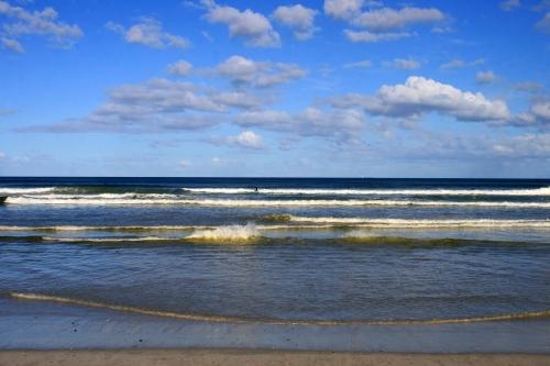 blue skies Surfers Corner