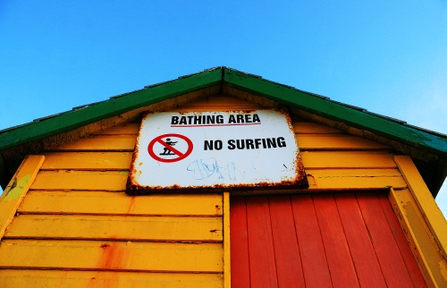 bathing area no surfing