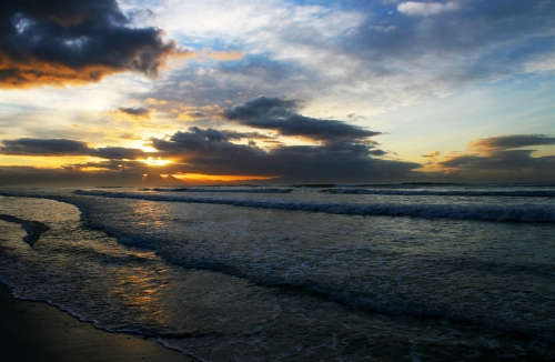 sunrise at Muizenberg beach